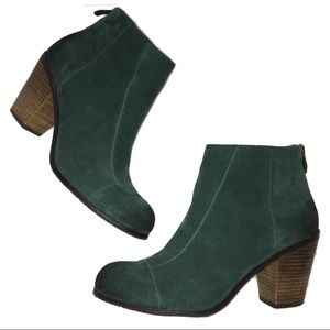 Vince Camuto Green Suede Graysen Ankle Bootie